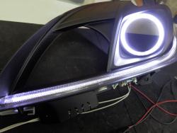 30プリウス ヘッドライト クリアランスランプ LED打ち換え LEDリング取付け